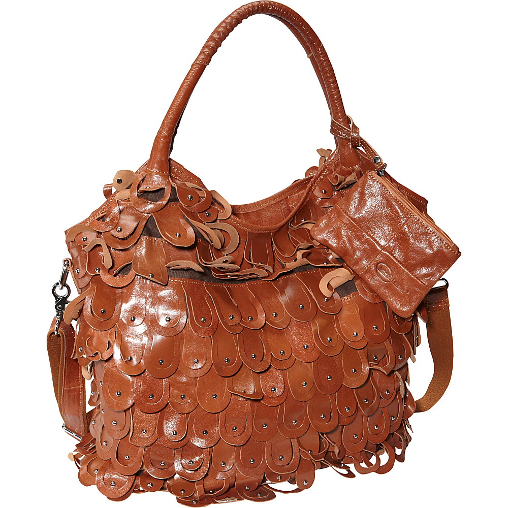 AmeriLeather Peacock Handbag Brown - AmeriLeather Leather Handbags