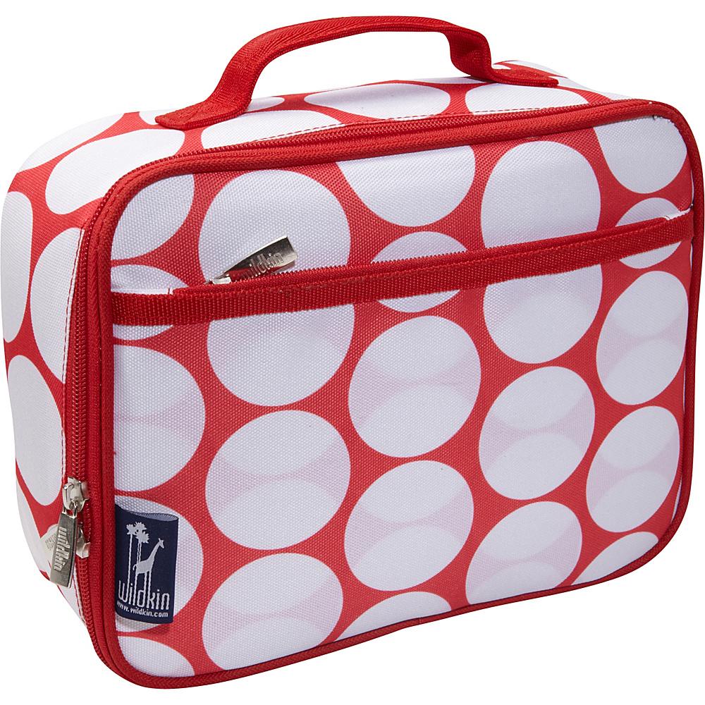 Wildkin Big Dot Red & White Lunch Box Big Dot Red & White - Wildkin Travel Coolers