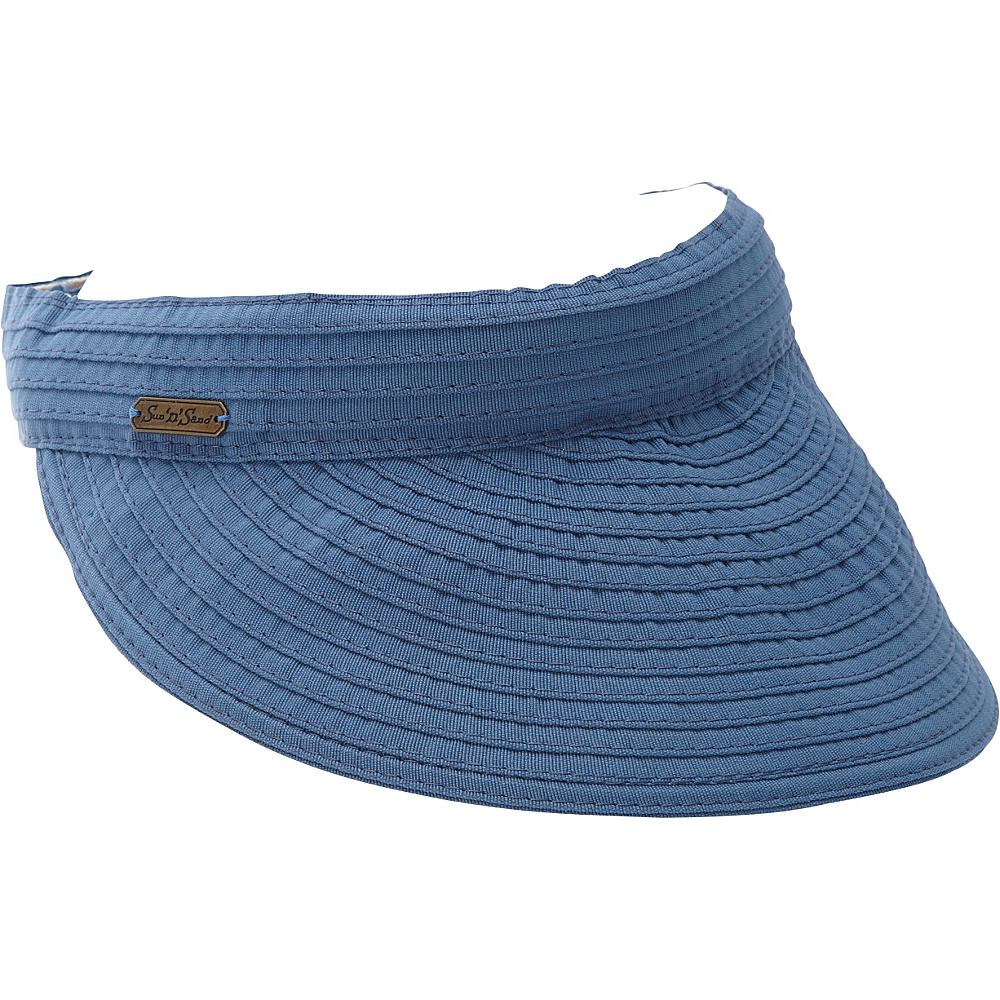 Sun N Sand Adina One Size - Slate Blue - Sun N Sand Hats/Gloves/Scarves - Fashion Accessories, Hats/Gloves/Scarves