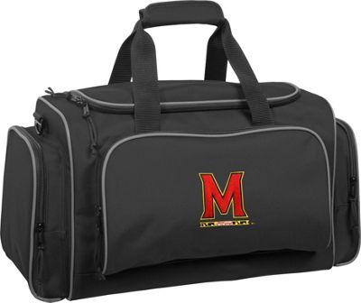 Wally Bags University of Maryland Terrapins 21 inch Collegiate Duffel Black - Wally Bags Rolling Duffels