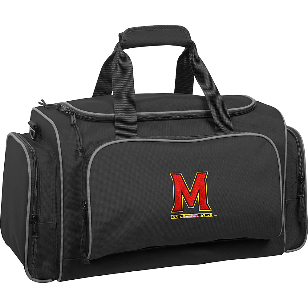 Wally Bags University of Maryland Terrapins 21 Collegiate Duffel Black Wally Bags Rolling Duffels