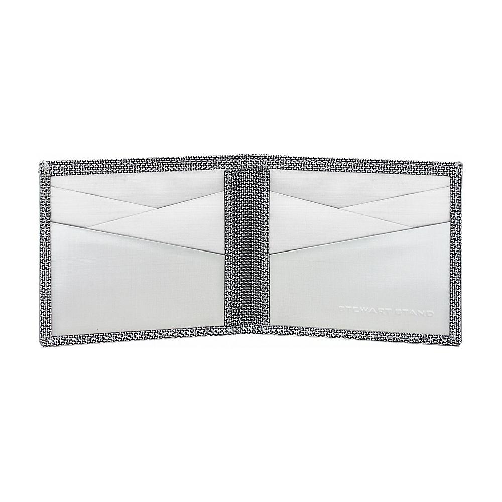 Stewart Stand 3D Box Texture Bill Fold Stainless Steel Wallet - RFID Silver/Grey Mesh - Stewart Stand Men's Wallets
