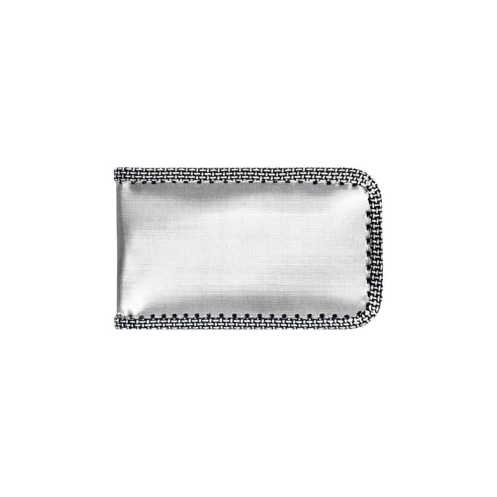 Stewart Stand Magnetic Money Clip Stainless Steel Wallet RFID Silver Grey Mesh Stewart Stand Men s Wallets