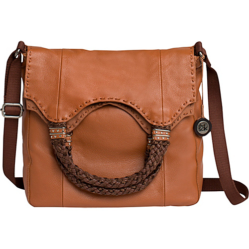 The Sak Indio Foldover Tobacco - The Sak Leather Handbags