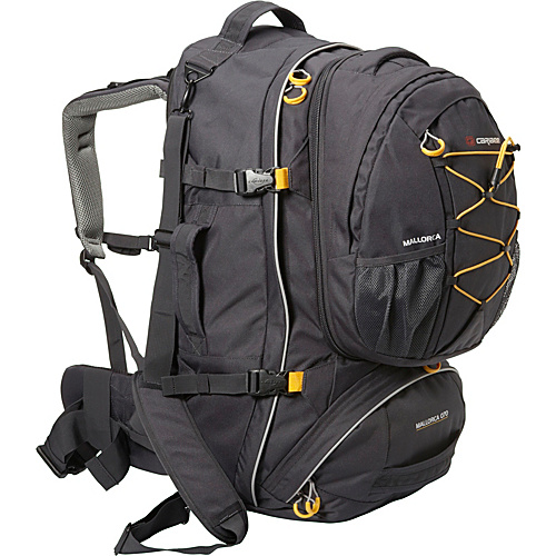 Caribee Mallorca 70 Travel Pack Black - Caribee Travel Backpacks