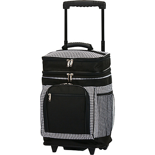 Picnic Plus Partytime Rolling Cooler Houndstooth - Picnic Plus Outdoor Accessories