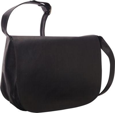 Le Donne Leather Classic Women's Full Flap Black - Le Donne Leather Leather Handbags