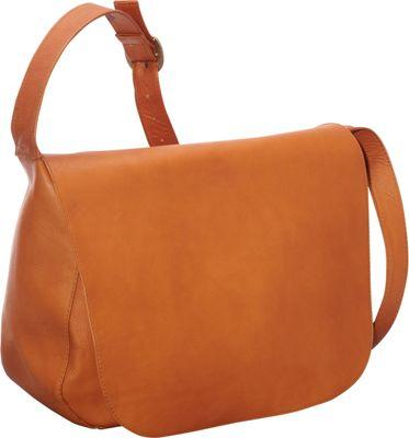 Le Donne Leather Classic Women's Full Flap Tan - Le Donne Leather Leather Handbags