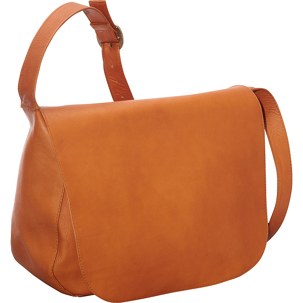 Le Donne Leather Classic Womens Full Flap Tan - Le Donne Leather Leather Handbags - Handbags, Leather Handbags
