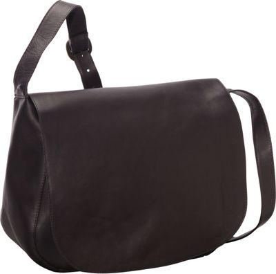 Le Donne Leather Classic Women's Full Flap Cafe - Le Donne Leather Leather Handbags