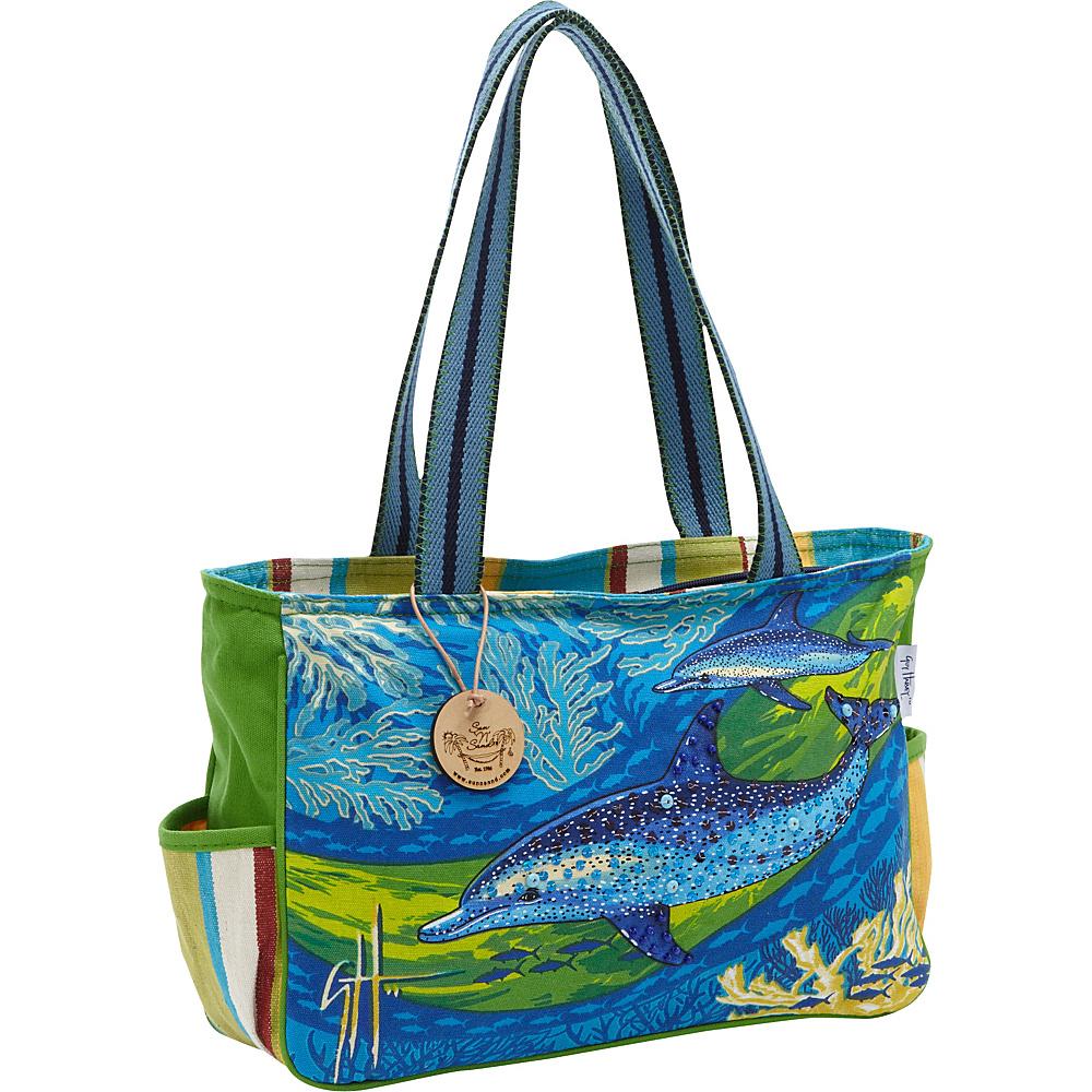 Sun N Sand Noisin Around Blue - Sun N Sand Fabric Handbags - Handbags, Fabric Handbags