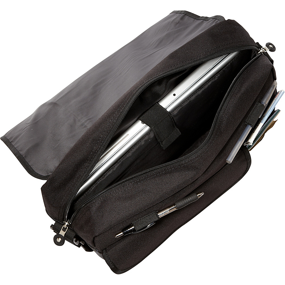 Bellino Matrix Plaid Laptop Messenger Black - Bellino Messenger Bags