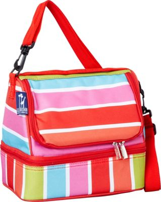 Wildkin Bright Stripes Two Compartment Lunch Bag Bright Stripes - Wildkin Travel Coolers