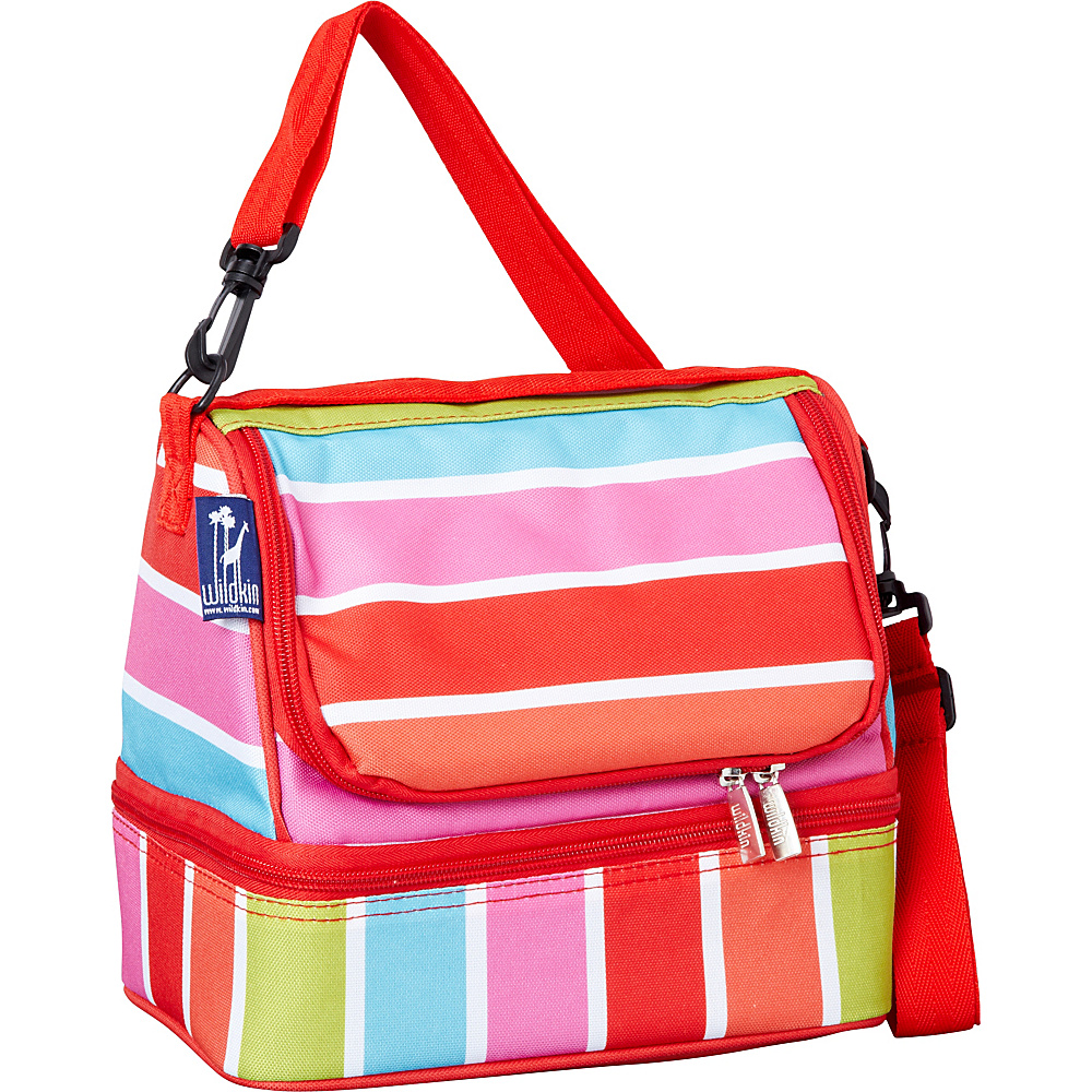 Wildkin Bright Stripes Double Decker Lunch Box Bright Stripes - Wildkin Travel Coolers