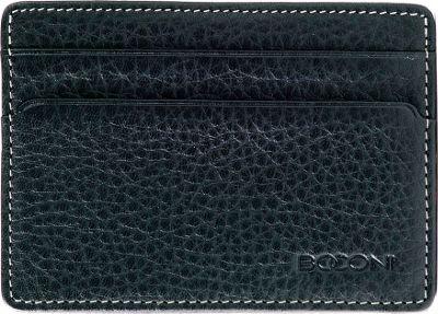 Boconi Tyler Tumbled Weekender ID Card Case Black w/ terra cotta - Boconi Men's Wallets