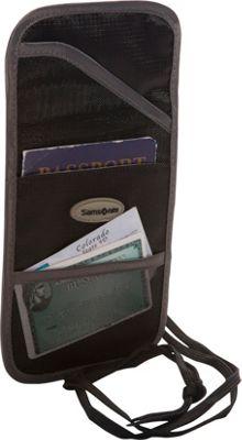 Samsonite Travel Accessories RFID Neck Pouch Black - Samsonite Travel Accessories Travel Wallets