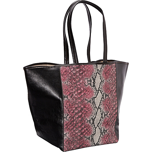 Clava Page Python Print and Leather Tote Pink Python Print - Clava Leather Handbags