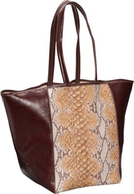 Clava Page Python Print and Leather Tote Orange Python Print - Clava Leather Handbags