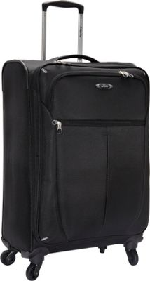 Skyway Mirage Superlight 4 Wheel Expandable Upright Luggage - 23 inch Black - Skyway Softside Checked