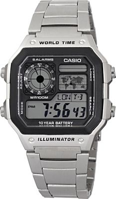 Casio Casio Men's Digital Watch Silvertone - Casio Watches