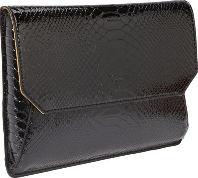 Women In Business Francine Collection - 7 inch Snake Skin Tablet Envelope Black - Women In Business Electronic Cases