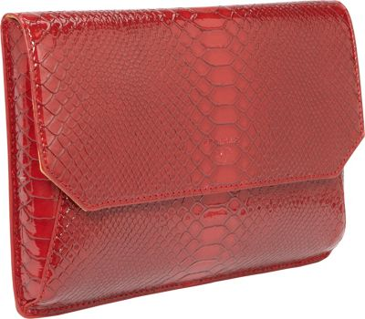 Women In Business Francine Collection - 7 inch Snake Skin Tablet Envelope Red - Women In Business Electronic Cases