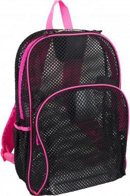 Eastsport Mesh Backpack - 17.5 inch Pink Sizzle - Eastsport Everyday Backpacks