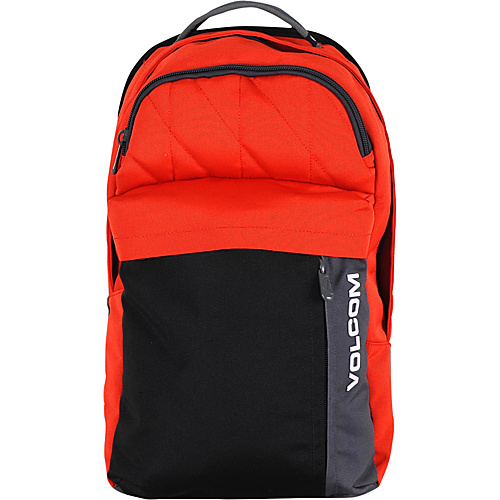 Volcom Prohibit Polyester Backpack Red Combo - Volcom Laptop Backpacks