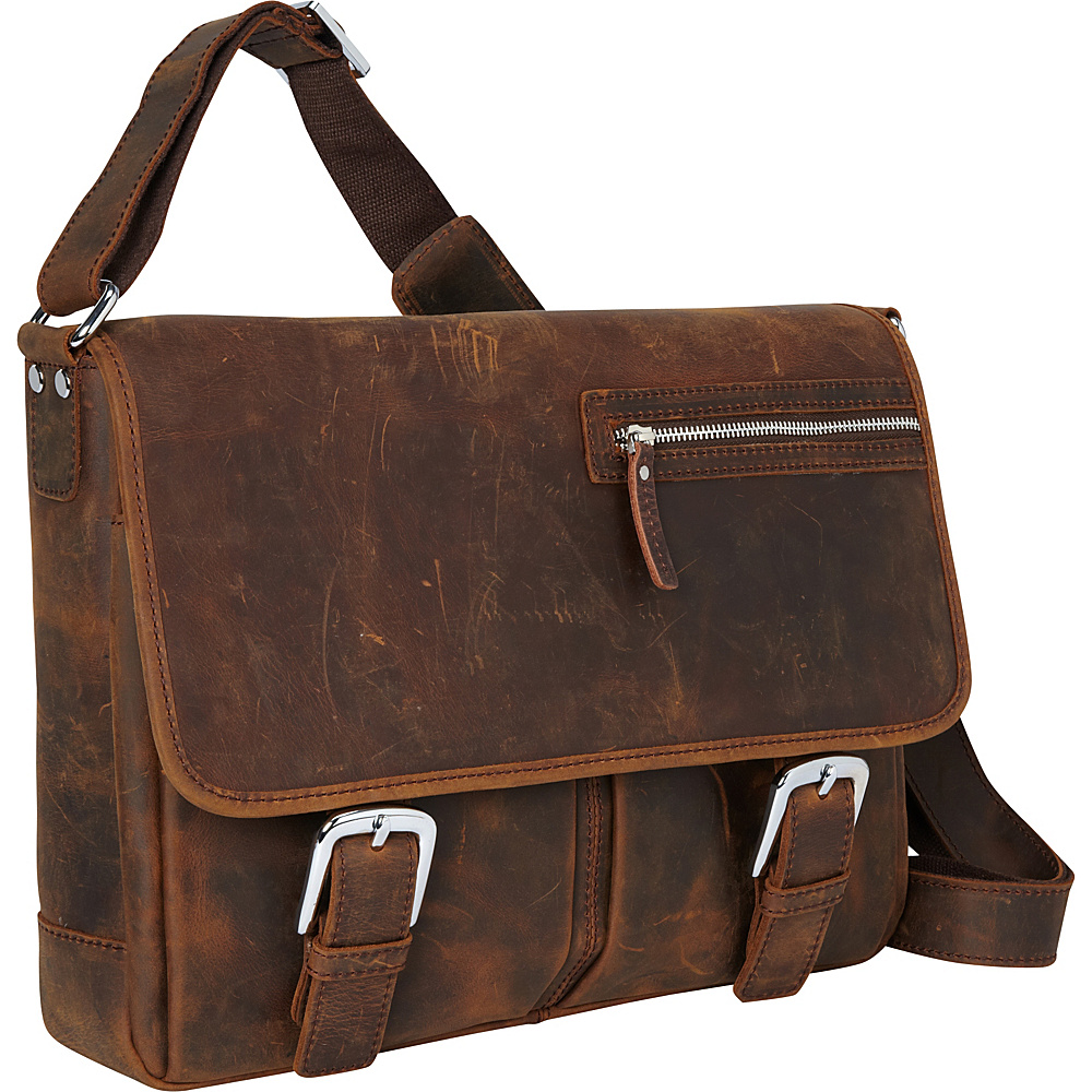 Vagabond Traveler 15 Cowhide Leather Casual Messenger Bag Vintage Brown - Vagabond Traveler Messenger Bags - Work Bags & Briefcases, Messenger Bags