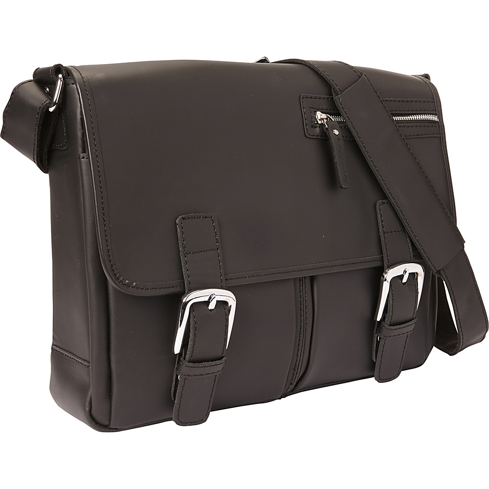 Vagabond Traveler 15 Cowhide Leather Casual Messenger Bag Black - Vagabond Traveler Messenger Bags - Work Bags & Briefcases, Messenger Bags