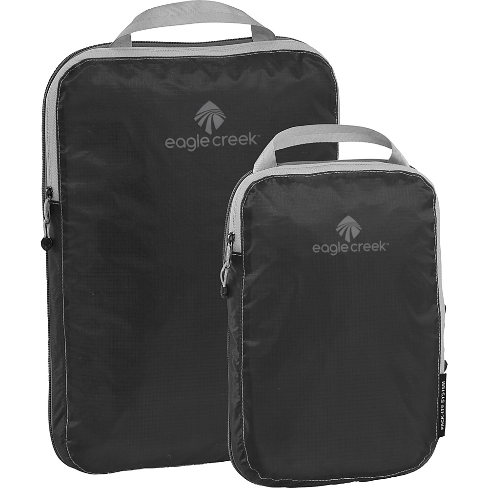 Eagle Creek Pack-It Specter 2-Piece Compression Cube Set Ebony - Eagle Creek Travel Organizers - Travel Accessories, Travel Organizers