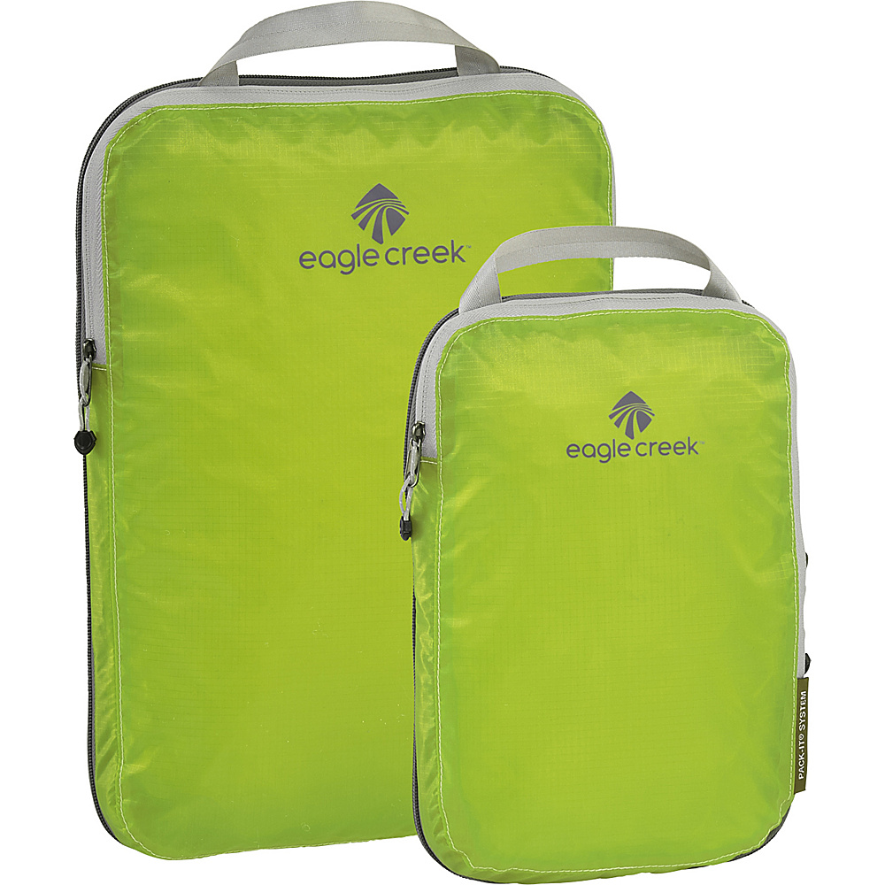 Eagle Creek Pack-It Specter 2-Piece Compression Cube Set Strobe Green - Eagle Creek Travel Organizers - Travel Accessories, Travel Organizers