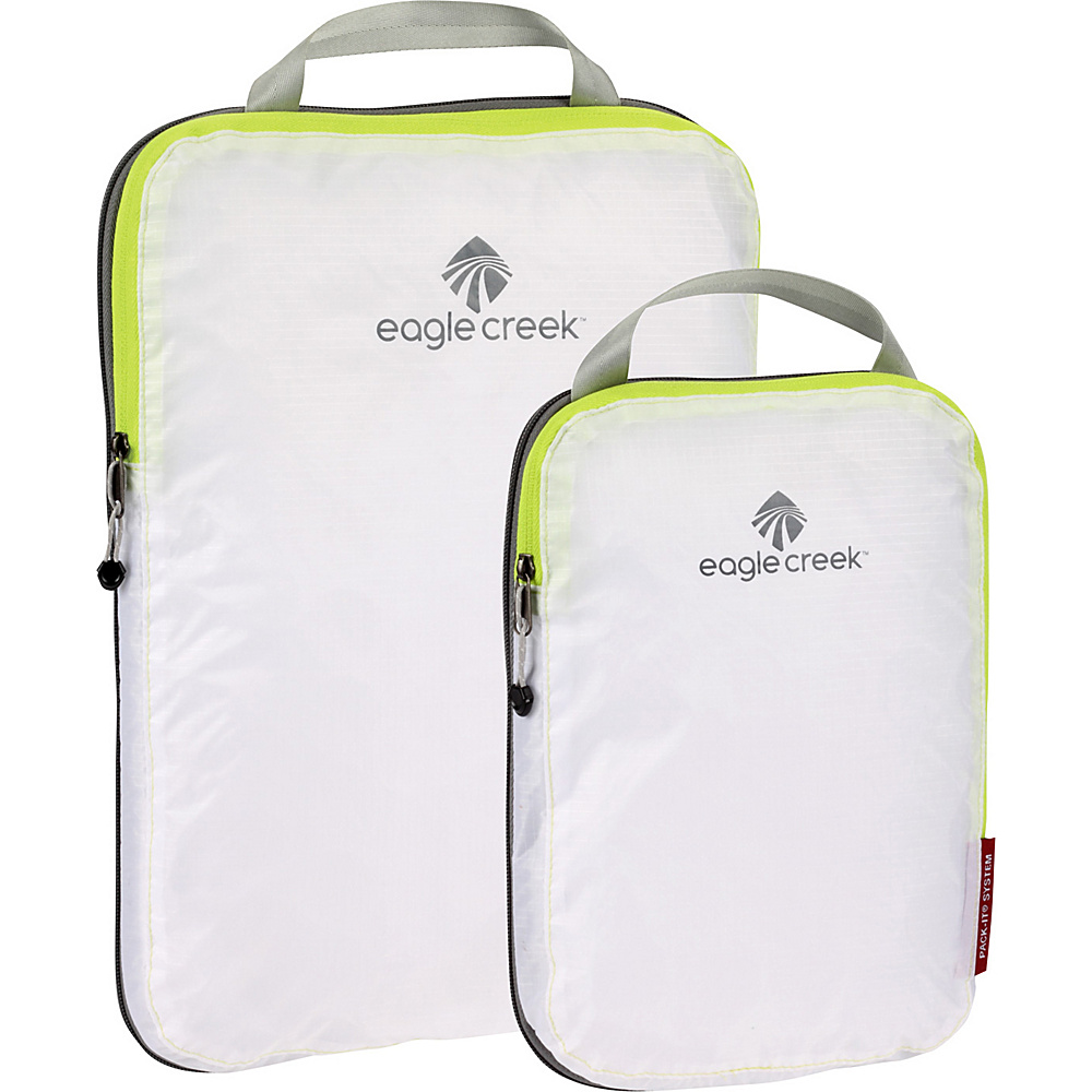 Eagle Creek Pack-It Specter 2-Piece Compression Cube Set White/Strobe - Eagle Creek Travel Organizers - Travel Accessories, Travel Organizers