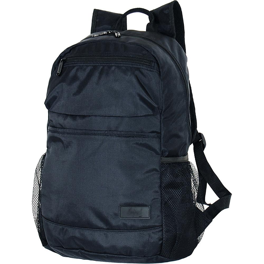 """Netpack U-zip 18"""" Ballistic nylon backpack Black - Netpack Packable Bags"""