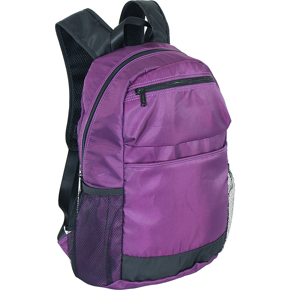 "Netpack U-zip 18"" Ballistic nylon backpack Purple - Netpack Packable Bags"