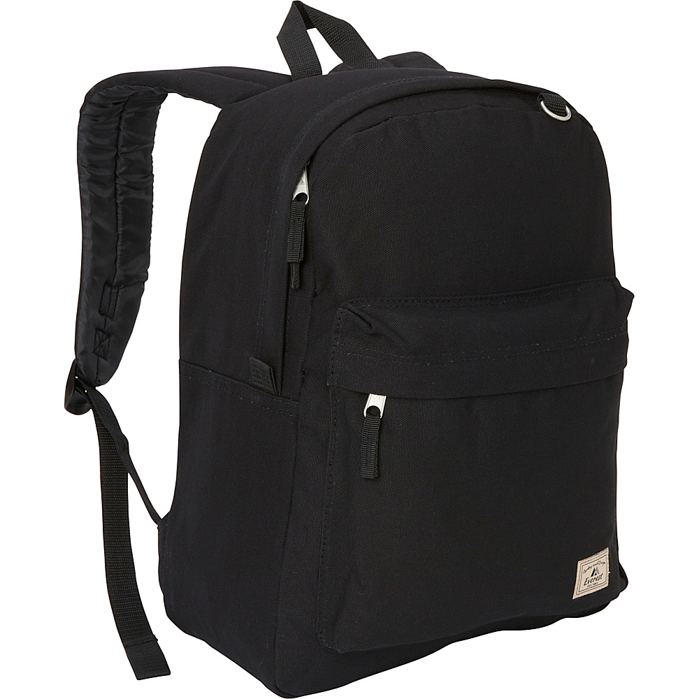 Everest Classic Laptop Canvas Backpack Black - Everest Business & Laptop Backpacks - Backpacks, Business & Laptop Backpacks