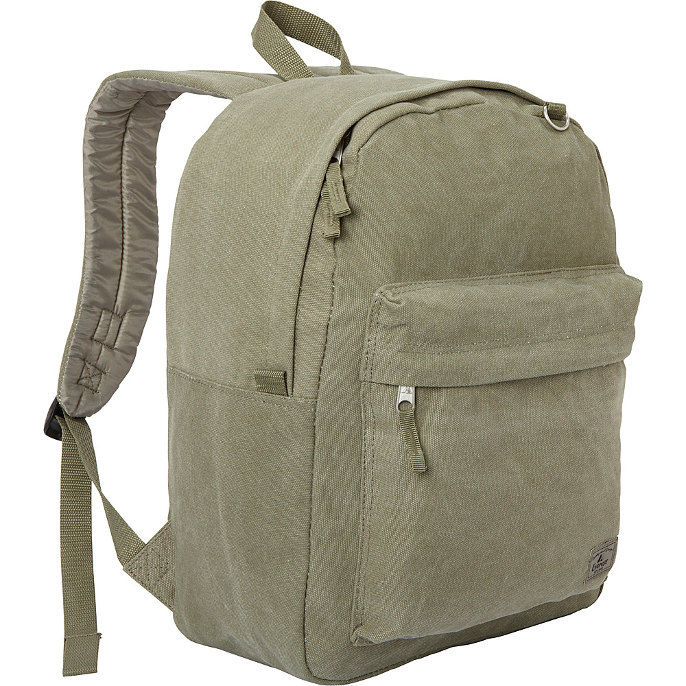 Everest Classic Laptop Canvas Backpack Olive - Everest Business & Laptop Backpacks - Backpacks, Business & Laptop Backpacks