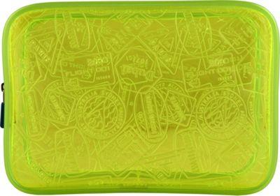 Flight 001 X-Ray Quart Transparent Pouch Bag Yellow - Flight 001 Toiletry Kits