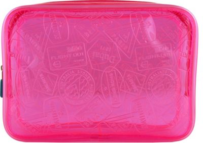 Flight 001 X-Ray Quart Transparent Pouch Bag Pink - Flight 001 Toiletry Kits