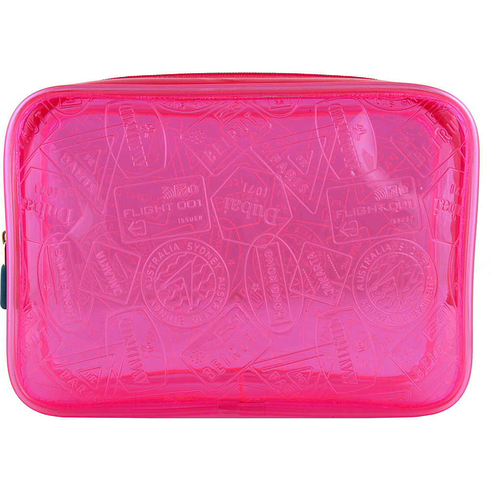 Flight 001 X-Ray Quart Transparent Pouch Bag Pink - Flight 001 Toiletry Kits