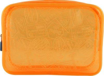 Flight 001 X-Ray Quart Transparent Pouch Bag Orange - Flight 001 Toiletry Kits