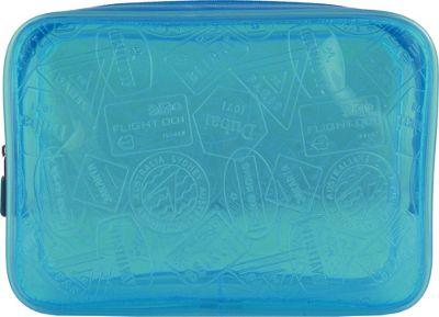 Flight 001 X-Ray Quart Transparent Pouch Bag Blue - Flight 001 Toiletry Kits