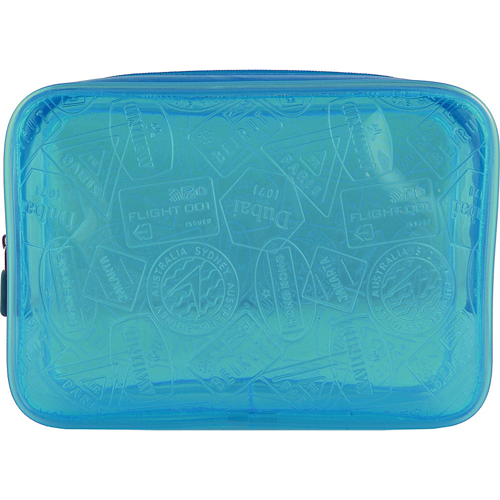 Flight 001 X-Ray Quart Transparent Pouch Bag Blue - Flight 001 Toiletry Kits