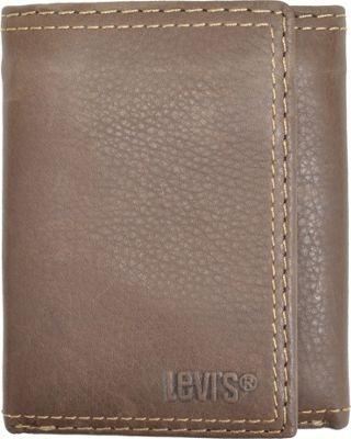 Levi's Trifold Wallet w/Interior Zipper BROWN - Levi's Men's Wallets