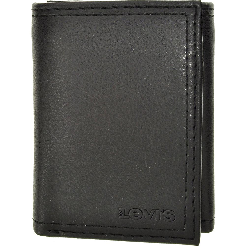 Levi s Trifold Wallet w Interior Zipper BLACK Levi s Men s Wallets