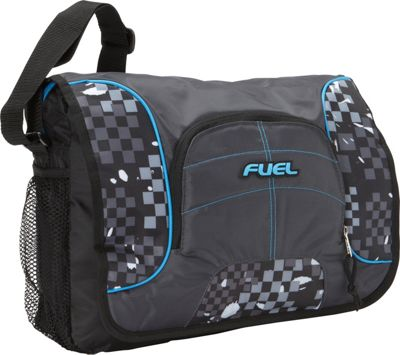 Fuel Fuel Messenger/Soft Brief bag Graphite Block - Fuel Messenger Bags