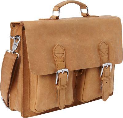 Vagabond Traveler 15 inch Leather Laptop Bag Nature Brown - Vagabond Traveler Non-Wheeled Business Cases