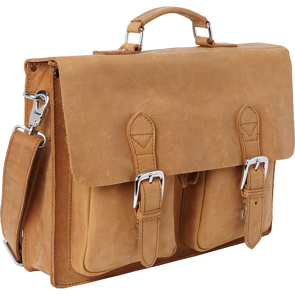 Vagabond Traveler 15 Leather Laptop Bag Nature Brown - Vagabond Traveler Non-Wheeled Business Cases - Work Bags & Briefcases, Non-Wheeled Business Cases