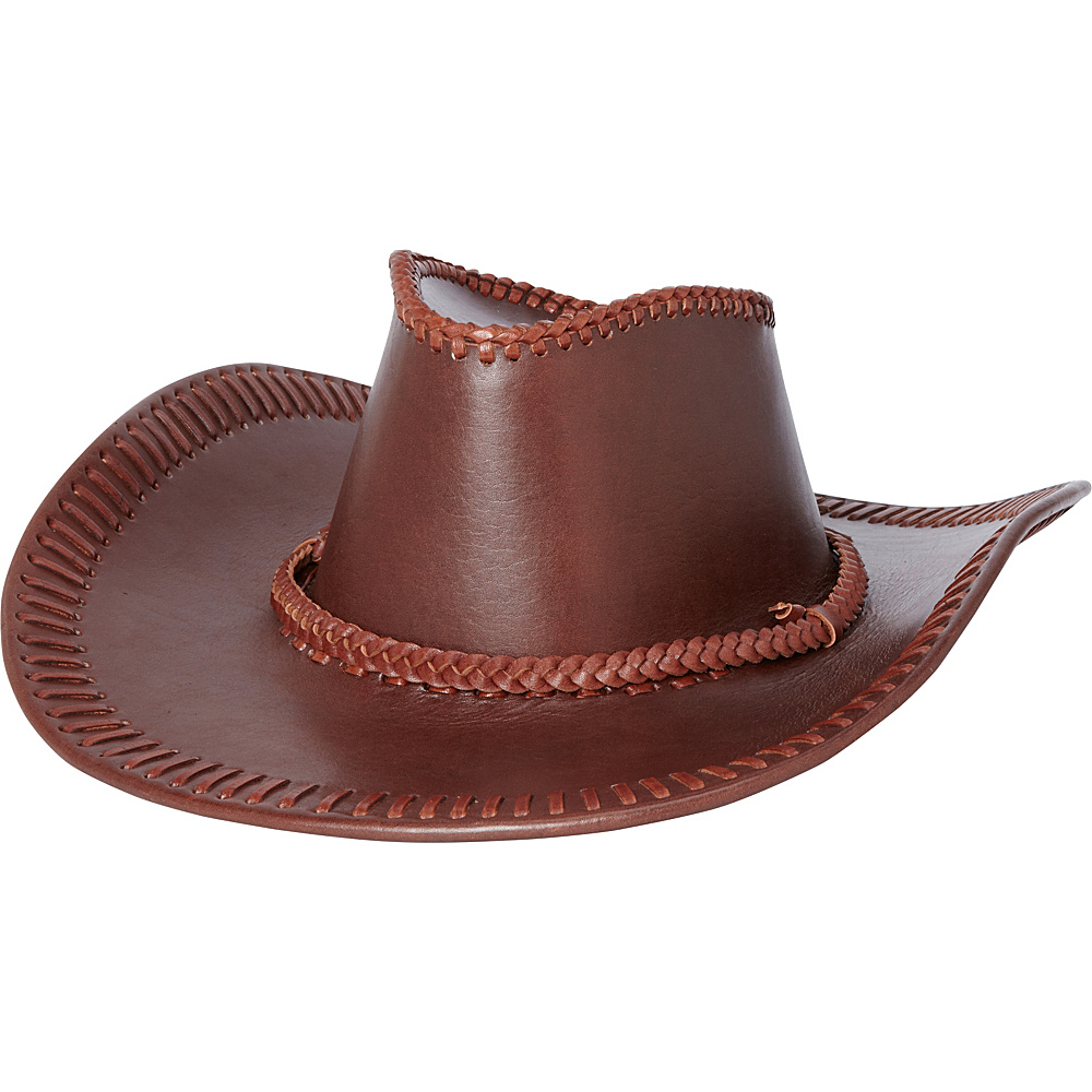 Vagabond Traveler Leather Cowboy Hat Reddish BRN Vagabond Traveler Hats Gloves Scarves