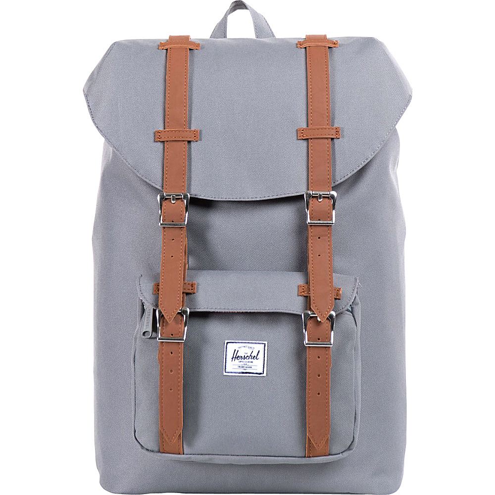 Herschel Supply Co. Little America Mid Volume Laptop Backpack Grey Herschel Supply Co. Business Laptop Backpacks